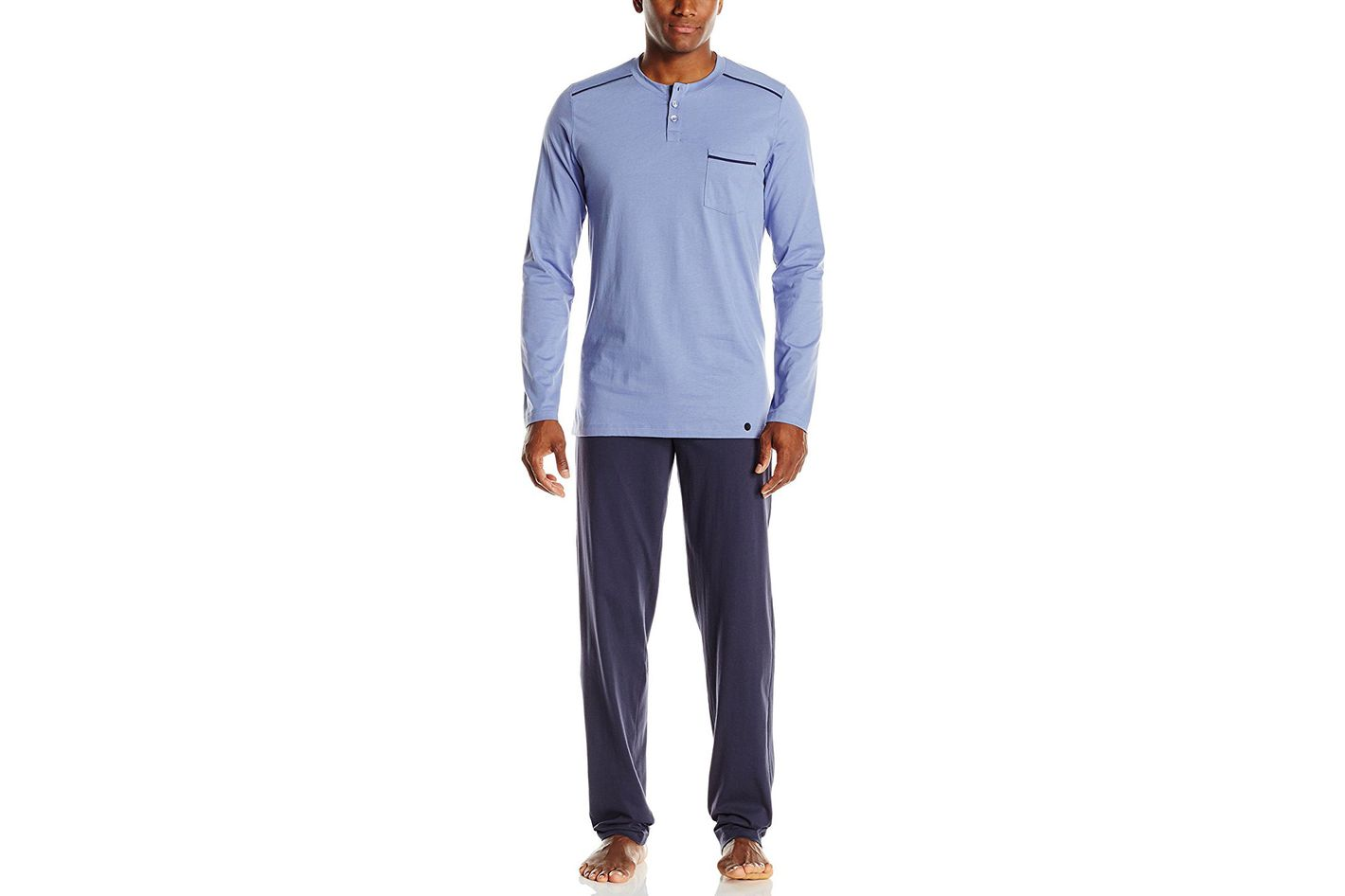 Hanro Men's Paolo Long Sleeve Pajama Set
