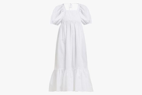 Mary Lou cotton-poplin midi dress
