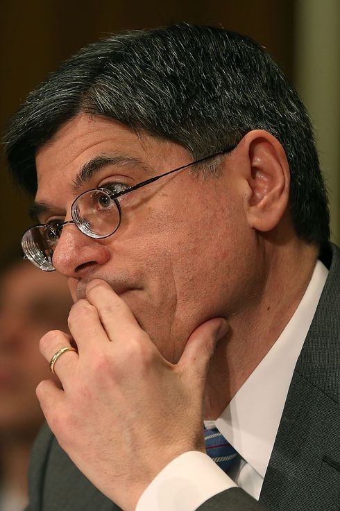 Treasury Secretary nominee Jack Lew listens to a question during his confirmation hearing before the Senate Finance Committee, February 13, 2013 in Washington, DC. If confirmed by the U.S. Senate Mr. Lew will replace Tim Geithner as Treasury Secretary.