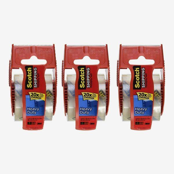 Scotch Heavy Duty Shipping Packaging Tape, 3 Rolls