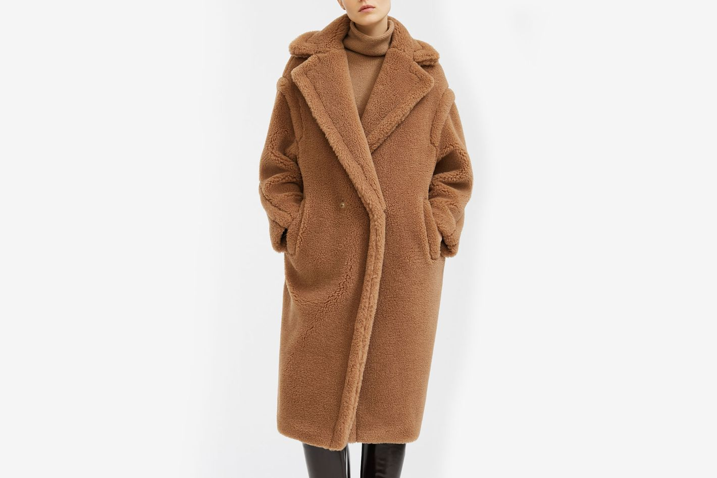 Teddy Bear Icon Coat, Camel