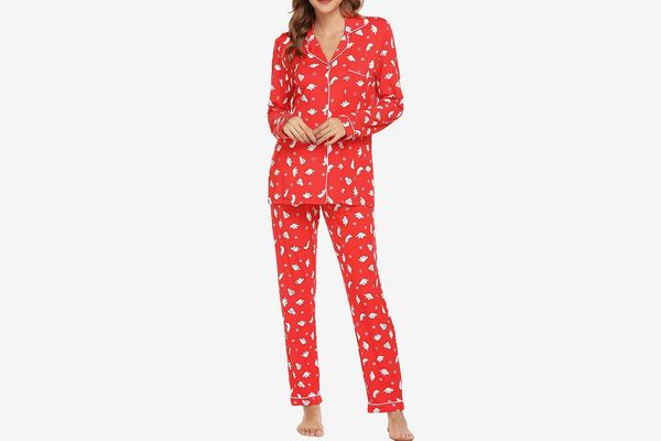 Ekouaer Women's Long Sleeve Sleepwear