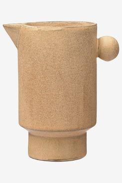 Creative Co-Op Putty Stoneware Pitcher