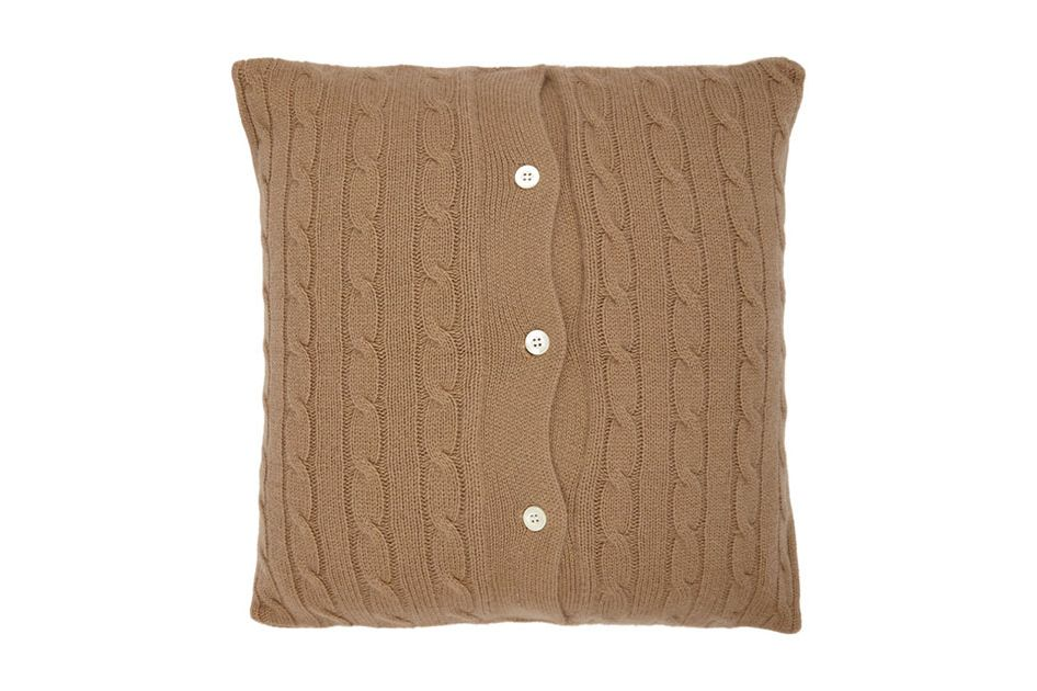 Barneys New York Cable-Knit Pillow