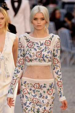 Abbey Lee Kershaw in Chanel.