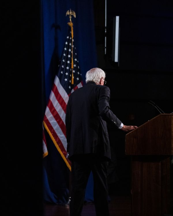 U.S. presidential candidate Sen. Bernie Sanders delivers a speech on his Medicare for All plan, calling for no premiums, no co-pays, and no deductibles. Sanders speech was delivered at the Jack Morton Auditorium in Washington, D.C., on Wednesday, July 17, 2019. (Photo by Cheriss May/NurPhoto via Getty Images)