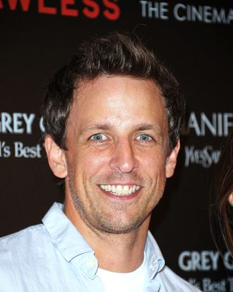 Actor Seth Meyers attends The Cinema Society & Manifesto Yves Saint Laurent screening of The Weinstein Company's