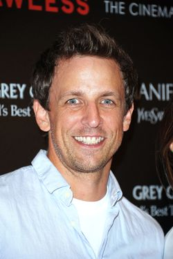 "NEW YORK, NY - AUGUST 13:  Actor Seth Meyers attends The Cinema Society & Manifesto Yves Saint Laurent screening of The Weinstein Company's ""Lawless"" at The Paley Center for Media on August 13, 2012 in New York City.  (Photo by Michael Loccisano/Getty Images)"