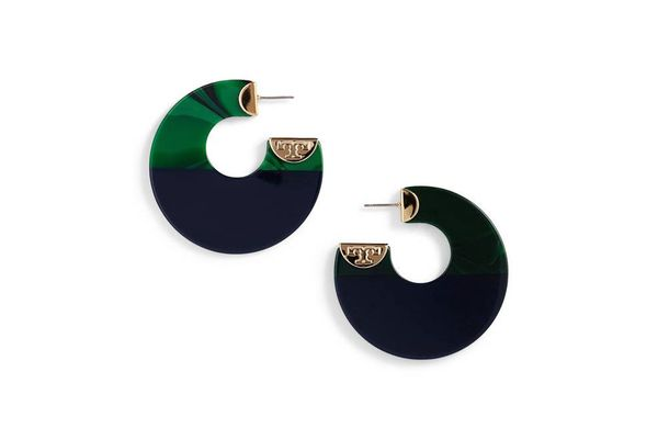 Tory Burch Resin Colorblock Hoops
