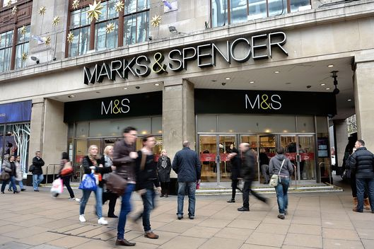 The Marks & Spencer store on Oxford Street on December 17, 2013 in London, England.
