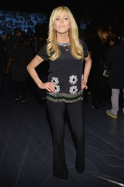 NEW YORK, NY - FEBRUARY 07:  Dina Lohan attends the Nicole Miller fashion show during  Mercedes-Benz Fashion Week Fall 2014 at The Salon at Lincoln Center on February 7, 2014 in New York City.  (Photo by Larry Busacca/Getty Images for Mercedes-Benz Fashion Week)