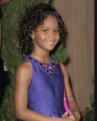 04 February 2013 - Beverly Hills, California - Quvenzhane Wallis. 85th Academy Awards Nominees Luncheon held at the Beverly Hilton Hotel.