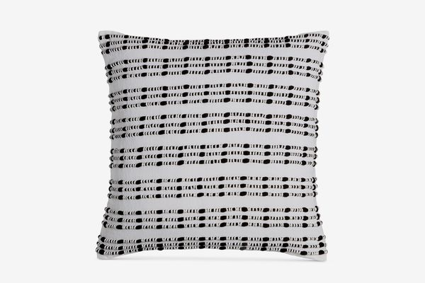 "Hotel Collection Linen Plaid 18"" Square Decorative Pillow"