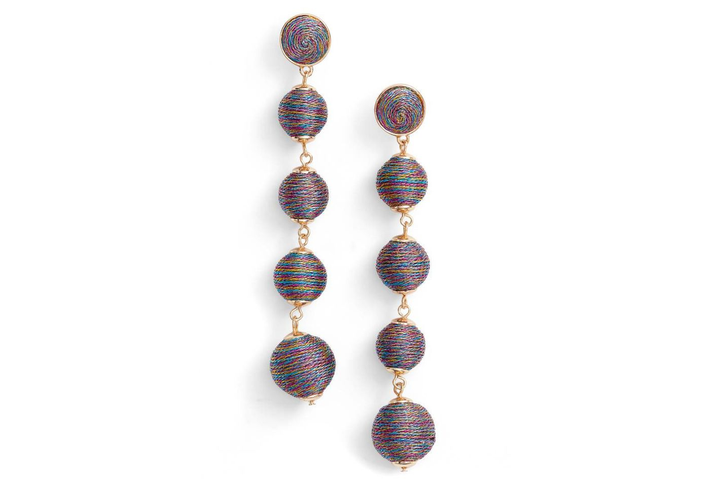 Bauble Bar Metallic Crispin Ball Statement Earrings