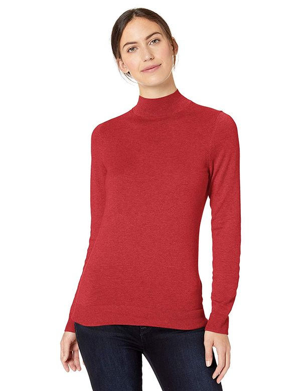 Amazon Essentials Women's Lightweight Mockneck Sweater