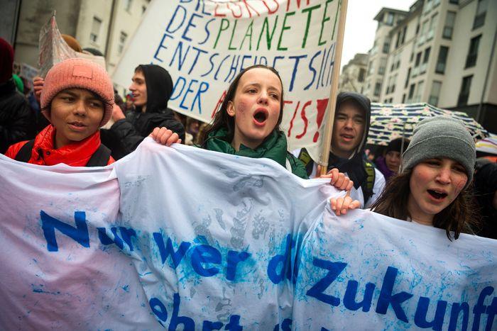 Climate strike in Munich.