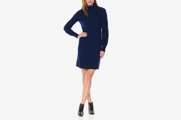 Lark & Ro Cashmere Turtleneck Sweater Dress