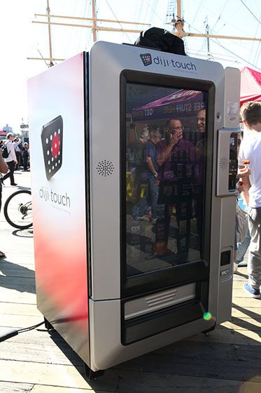 This vending machine aims to be a tiny, wireless convenience store. Advertisements on the front of this snack-vending system change every seven to ten seconds. Credit-card enabled, with the capacity for bulk purchasing.<br><br><br><br>