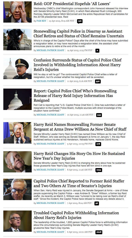 Obviously Terrified Harry Reid Refuses to Finger Mafia Assailants
