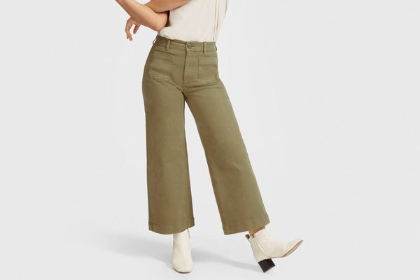 Everlane Wide Leg Crop Patch Pocket Pant