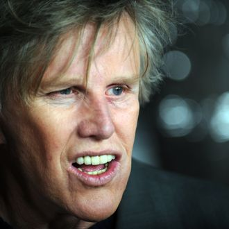 Actor Gary Busey arrives at the premiere of