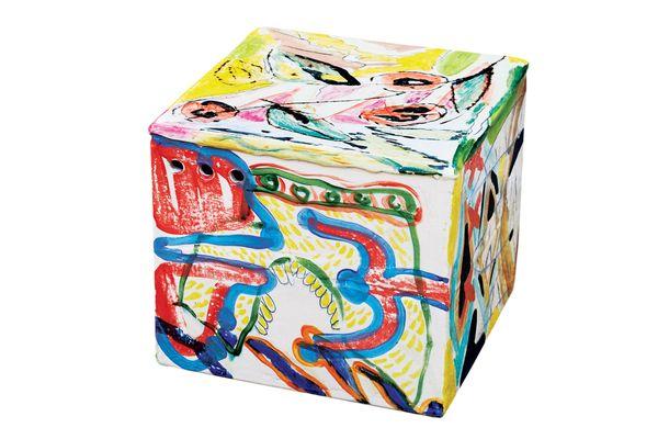 """Ceramic Square"" side table by Reinaldo Sanguino for the Future Perfect"