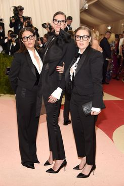 Lena Dunham with Jenni Konner and Jenna Lyons at the Met Gala.