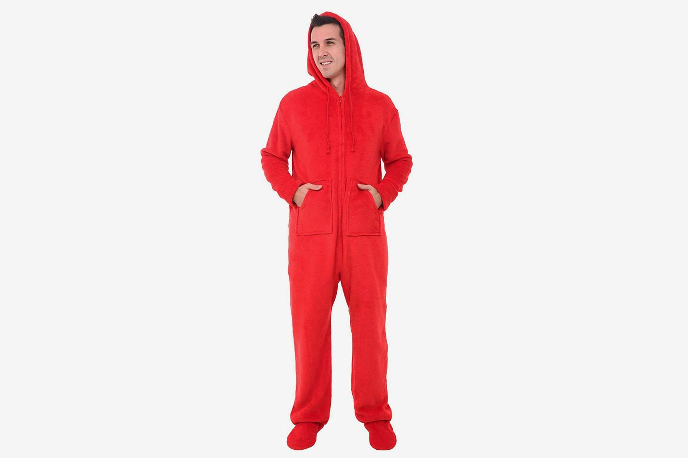 Alexander Del Rossa Men's Fleece Solid Colored Onesie