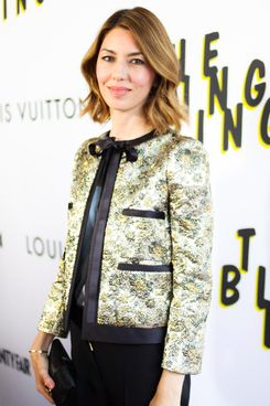 Sofia Coppola, (wearing Louis Vuitton)