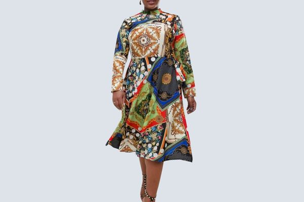 ASOS Printed Midi Dress