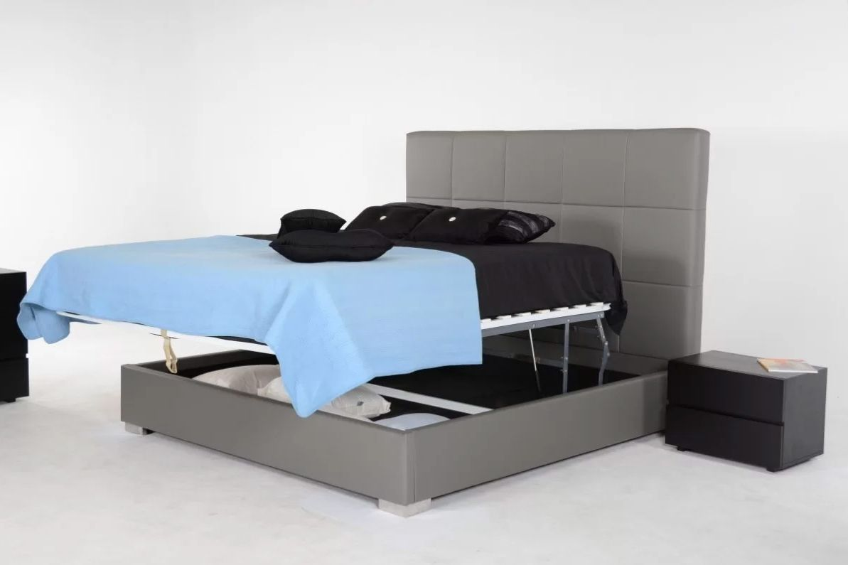 Carnevale upholstered storage platform bed best place to for Best places to buy picture frames