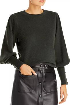 AQUA Cashmere Balloon Sleeve Sweater