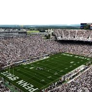 A general view of play between the Penn State Nittany Lions and the Ohio Bobcats at Beaver Stadium on September 1, 2012 in State College, Pennsylvania.