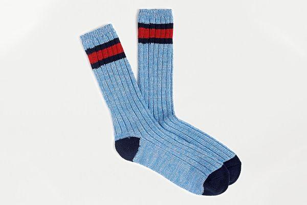J. Crew Prep Stripe Camp Socks