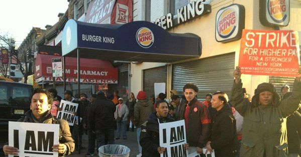 fast food worker strike Strikes are planned in 300 cities across the us, with fast food workers calling for a wage increase to $15 an hour.