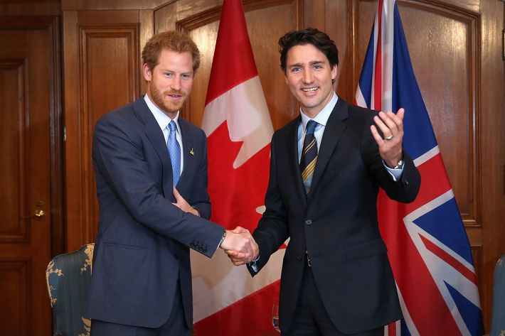 Prince Harry and Prime Minister Justin Trudeau
