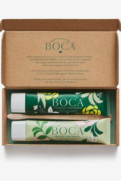 Boca Day & Night Toothpaste Duo with Bamboo Toothbrush