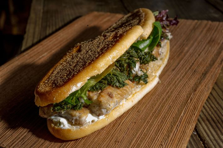 The smoked-eel sandwich at Harry & Ida's costs $17.