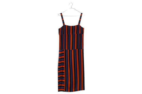 Madewell x No.6 Silk Patchwork Shift Dress