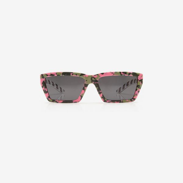 pink and green prada square-frame acetate sunglasses - strategist best square-frame sunglasses
