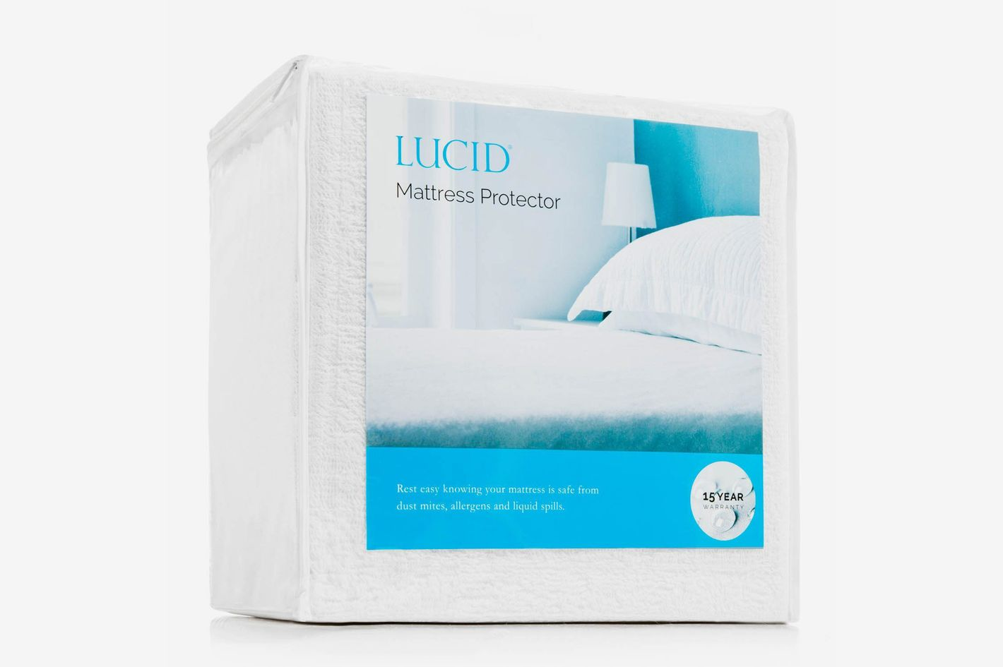 LUCID Premium Hypoallergenic Waterproof Mattress Protector - Queen
