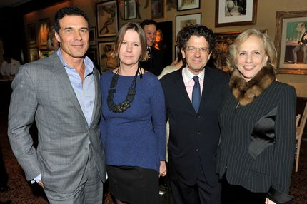 Andres Balasz, Barbara Hodes, Michael Gross, Ann Barish==GEORGE FARIAS, ANNE HEARST and JAY MCINERNEY Host a Christmas Cheer Cocktail==Club 21, NYC==December 15, 2011==©Patrick McMullan==Photo - Leandro Justen/PatrickMcMullan.com====