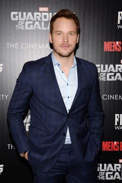 """Chris Pratt==The Cinema Society with Men's Fitness and FIJI Water host a special screening of Marvel's """"Guardians of the Galaxy""""==The Crosby Street Hotel, NY==July 29, 2014==?Patrick McMullan.com==Photo - Clint Spaulding/PatrickMcMullan.com=="""
