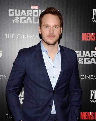 Chris Pratt==The Cinema Society with Men's Fitness and FIJI Water host a special screening of Marvel's