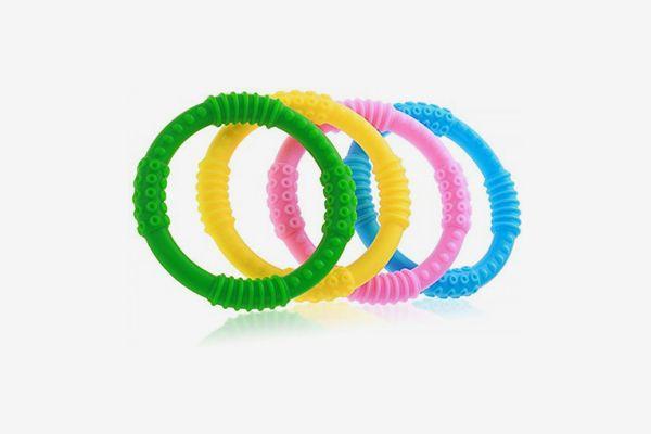Bonbino Silicone Sensory Teething Rings