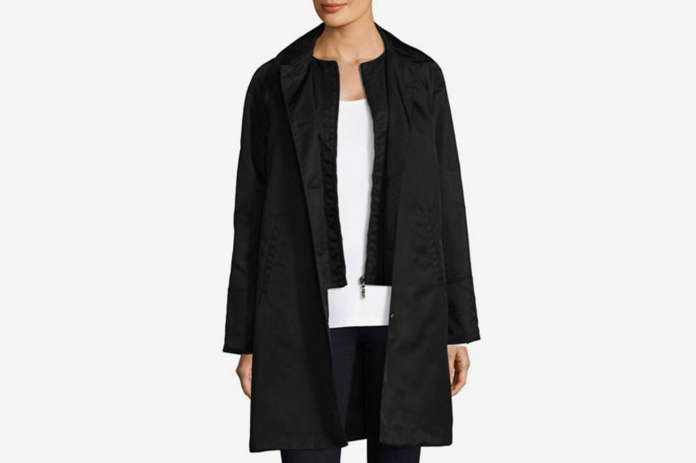 Jane Post Mock Double Look Raincoat