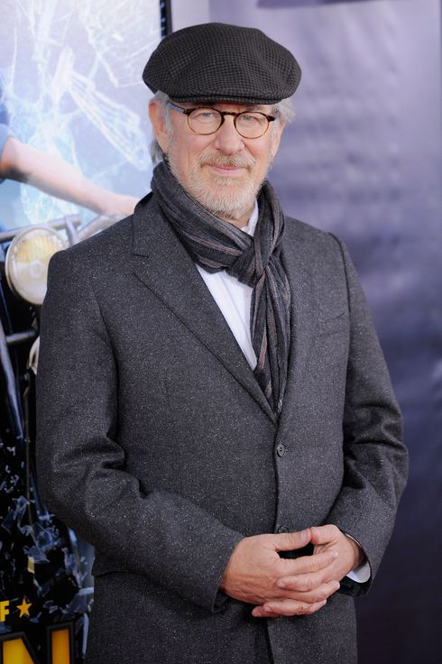 "NEW YORK, NY - DECEMBER 11:  Director Steven Spielberg poses for a photo at the ""The Adventures of TinTin"" New York premiere at the Ziegfeld Theatre on December 11, 2011 in New York City.  (Photo by Jemal Countess/Getty Images)"