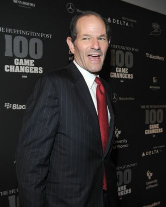 Former Governor Eliot Spitzer attends the Huffington Post 2010