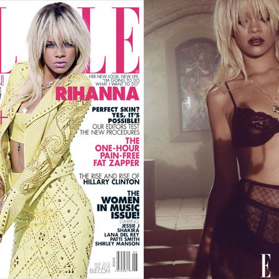Rihanna, shot for Elle by Tom Munro.
