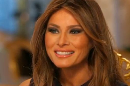 Melania Trump Affirms Normalcy From Gold Throne The Cut